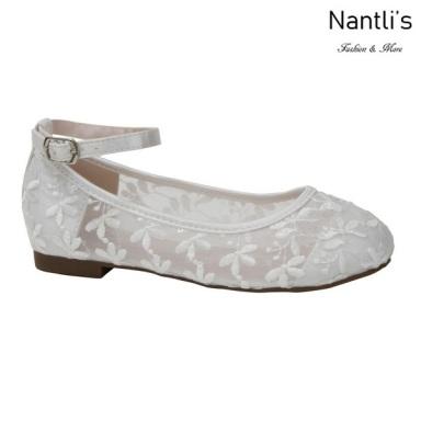 BL-K-Harper-78 White Zapatos de niña Mayoreo Wholesale girls flats Kids dress Shoes Nantlis