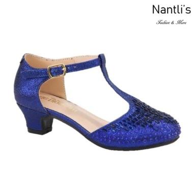BL-K-Suri-14 Navy Zapatos de niña Mayoreo Wholesale Kids heels dress Shoes Nantlis