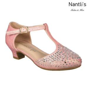 BL-K-Suri-14 Pink Zapatos de niña Mayoreo Wholesale Kids heels dress Shoes Nantlis