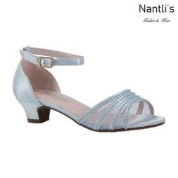 BL-K-Suri-22 Light Blue Zapatos de niña Mayoreo Wholesale Kids heels dress Shoes Nantlis