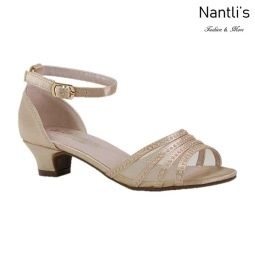 BL-K-Suri-22 Nude Zapatos de niña Mayoreo Wholesale Kids heels dress Shoes Nantlis