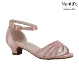 BL-K-Suri-22 Pink Zapatos de niña Mayoreo Wholesale Kids heels dress Shoes Nantlis