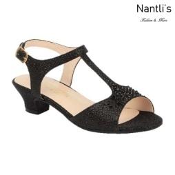 BL-K-Suri-31 Black Zapatos de niña Mayoreo Wholesale girls heels Kids dress Shoes Nantlis