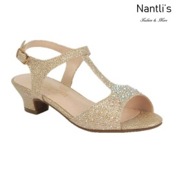 BL-K-Suri-31 Champagne Zapatos de niña Mayoreo Wholesale girls heels Kids dress Shoes Nantlis