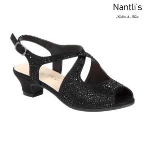 BL-K-Suri-33 Black Zapatos de niña Mayoreo Wholesale Kids heels dress Shoes Nantlis