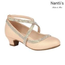 BL-K-Suri-40 Champagne Zapatos de niña Mayoreo Wholesale girls heels Kids dress Shoes Nantlis