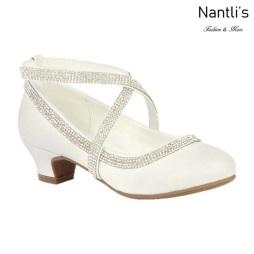 BL-K-Suri-40 White Zapatos de niña Mayoreo Wholesale girls heels Kids dress Shoes Nantlis