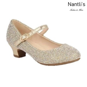 BL-K-Suri-41 Champagne Zapatos de niña Mayoreo Wholesale girls heels Kids dress Shoes Nantlis