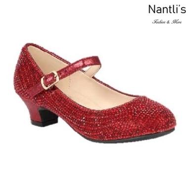 BL-K-Suri-41 Wine Zapatos de niña Mayoreo Wholesale girls heels Kids dress Shoes Nantlis