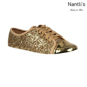 BL-K-Tennis-6 Gold Zapatos de nina Mayoreo Wholesale Girls sneakers kids Shoes Nantlis