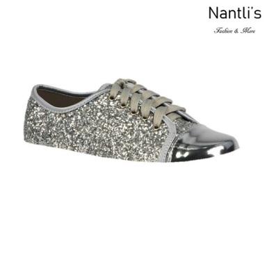 BL-K-Tennis-6 Silver Zapatos de nina Mayoreo Wholesale Girls sneakers kids Shoes Nantlis