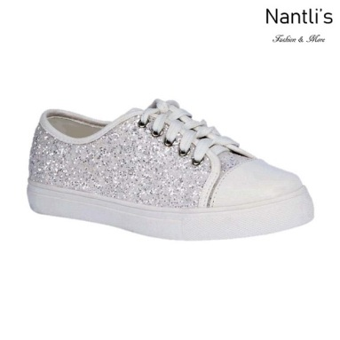 BL-K-Tennis-6 White Zapatos de nina Mayoreo Wholesale Girls sneakers kids Shoes Nantlis
