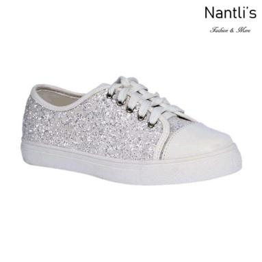 BL-K-Tennis-6 White Zapatos de nina Mayoreo Wholesale Girls sneakers kids Shoes Nantlis