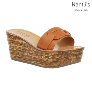 BL-Kloss-1 Tan Zapatos de Mujer Mayoreo Wholesale Women Shoes Wedges sandals Nantlis