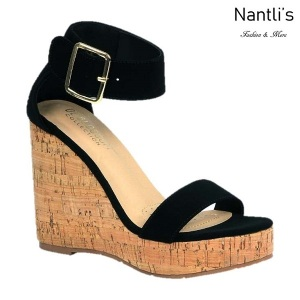 BL-Lillian-11 Black Zapatos de Mujer Mayoreo Wholesale Women Shoes Wedges Nantlis