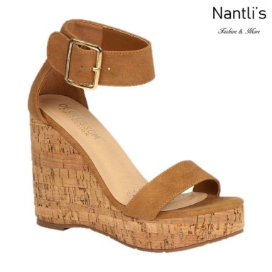 BL-Lillian-11 Tan Zapatos de Mujer Mayoreo Wholesale Women Shoes Wedges Nantlis