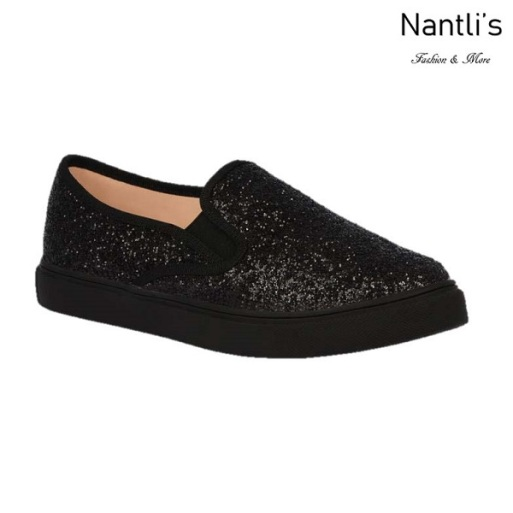 BL-T-Asuka-1 Black Zapatos de nina Mayoreo Wholesale Girls sneakers toddlers Shoes Nantlis