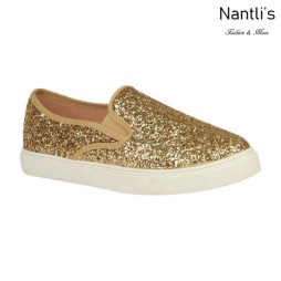 BL-T-Asuka-1 Gold Zapatos de nina Mayoreo Wholesale Girls sneakers toddlers Shoes Nantlis