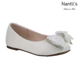 BL-T-Harper-27 Ivory Zapatos de niña Mayoreo Wholesale girls flats toddler dress Shoes Nantlis