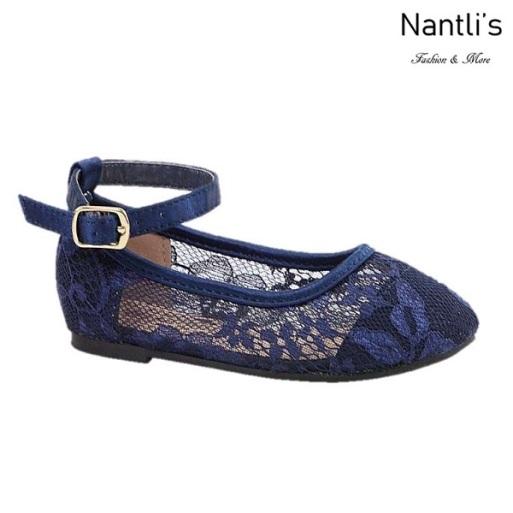 BL-T-Harper-44 Navy Zapatos de niña Mayoreo Wholesale girls flats toddler dress Shoes Nantlis