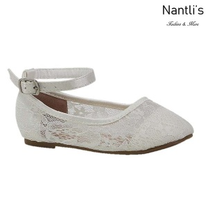 BL-T-Harper-44 White Zapatos de niña Mayoreo Wholesale girls flats toddler dress Shoes Nantlis