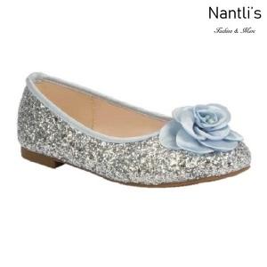 BL-T-Harper-48 Silver Zapatos de niña Mayoreo Wholesale girls flats toddler dress Shoes Nantlis