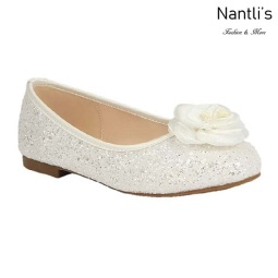 BL-T-Harper-48 White Zapatos de niña Mayoreo Wholesale girls flats toddler dress Shoes Nantlis