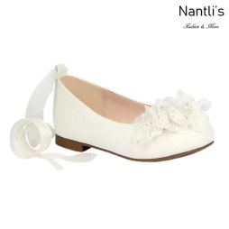 BL-T-Harper-50 White Zapatos de niña Mayoreo Wholesale girls flats toddler dress Shoes Nantlis