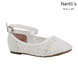 BL-T-Harper-53 White Zapatos de niña Mayoreo Wholesale girls flats toddler dress Shoes Nantlis
