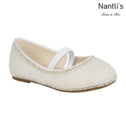 BL-T-Harper-65 White Zapatos de niña Mayoreo Wholesale girls flats toddler dress Shoes Nantlis