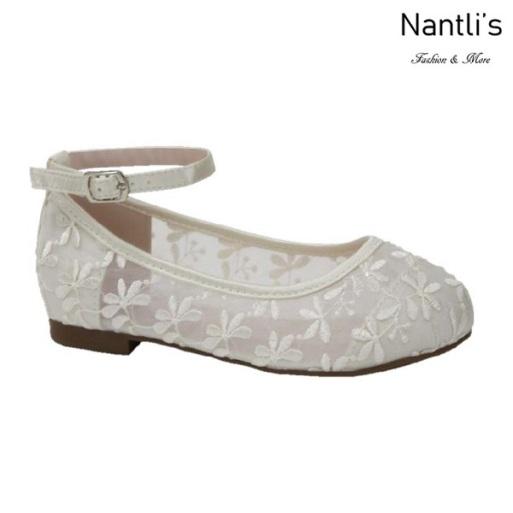 BL-T-Harper-78 Ivory Zapatos de niña Mayoreo Wholesale girls flats toddler dress Shoes Nantlis