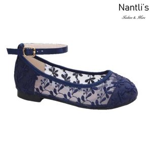 BL-T-Harper-78 Navy Zapatos de niña Mayoreo Wholesale girls flats toddler dress Shoes Nantlis