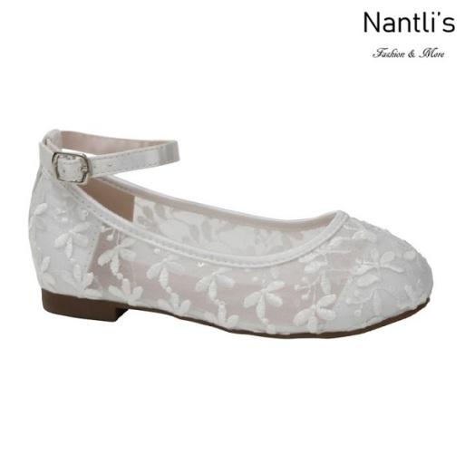 BL-T-Harper-78 White Zapatos de niña Mayoreo Wholesale girls flats toddler dress Shoes Nantlis