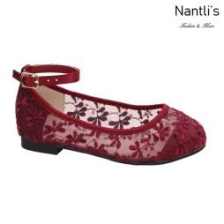 BL-T-Harper-78 Wine Zapatos de niña Mayoreo Wholesale girls flats toddler dress Shoes Nantlis