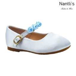 BL-T-Helen-8 Light Blue Zapatos de niña Mayoreo Wholesale girls flats toddler dress Shoes Nantlis