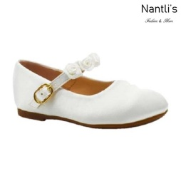 BL-T-Helen-8 White Zapatos de niña Mayoreo Wholesale girls flats toddler dress Shoes Nantlis