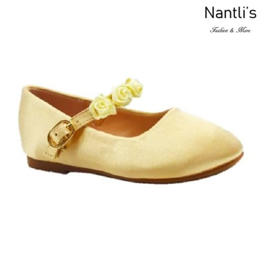 BL-T-Helen-8 Yellow Zapatos de niña Mayoreo Wholesale girls flats toddler dress Shoes Nantlis
