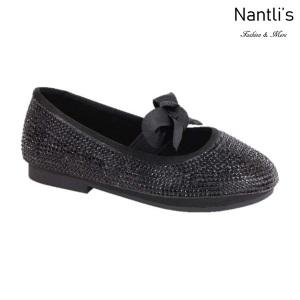 BL-T-Lili-3 Black Zapatos de niña Mayoreo Wholesale girls flats toddler dress Shoes Nantlis