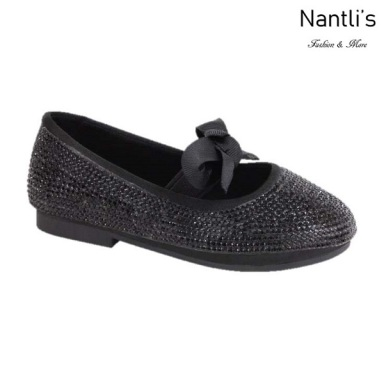 BL-T-Lili-3 Black Zapatos de niña Mayoreo Wholesale girls flats toddler dress Shoes Nantlis