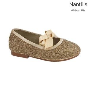 BL-T-Lili-3 Gold Zapatos de niña Mayoreo Wholesale girls flats toddler dress Shoes Nantlis