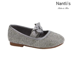 BL-T-Lili-3 Silver Zapatos de niña Mayoreo Wholesale girls flats toddler dress Shoes Nantlis