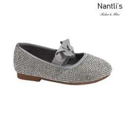 BL-T-Lili-3 Silver Zapatos de niña Mayoreo Wholesale girls flats toddler dress Shoes Nantlis