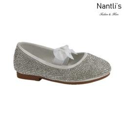 BL-T-Lili-3 White Zapatos de niña Mayoreo Wholesale girls flats toddler dress Shoes Nantlis