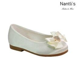 BL-T-Lili-9 Ivory Zapatos de niña Mayoreo Wholesale girls flats toddler dress Shoes Nantlis
