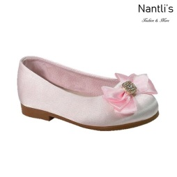 BL-T-Lili-9 Pink Zapatos de niña Mayoreo Wholesale girls flats toddler dress Shoes Nantlis
