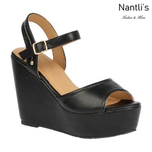 BL-Whitney-20 Black Zapatos de Mujer Mayoreo Wholesale Women Shoes Wedges Nantlis