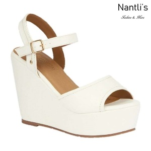 BL-Whitney-20 White Zapatos de Mujer Mayoreo Wholesale Women Shoes Wedges Nantlis