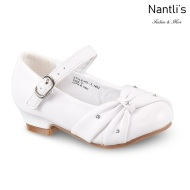 LD-i1402 White Zapatos por Mayoreo Wholesale girls shoes Nantlis Little Dominiques Kids Shoes