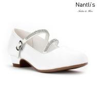 LD-i1405 white Zapatos por Mayoreo Wholesale kids shoes Nantlis Little Dominiques