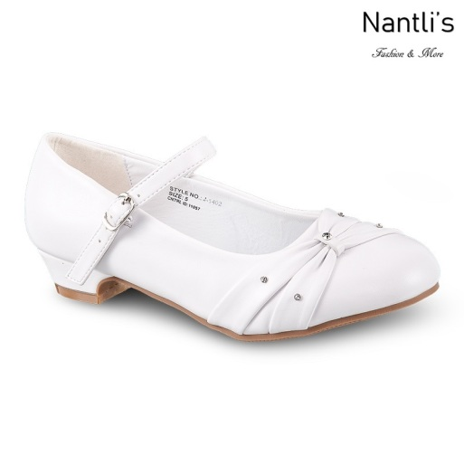 LD-j1402 White Zapatos por Mayoreo Wholesale girls shoes Nantlis Little Dominiques Kids Shoes